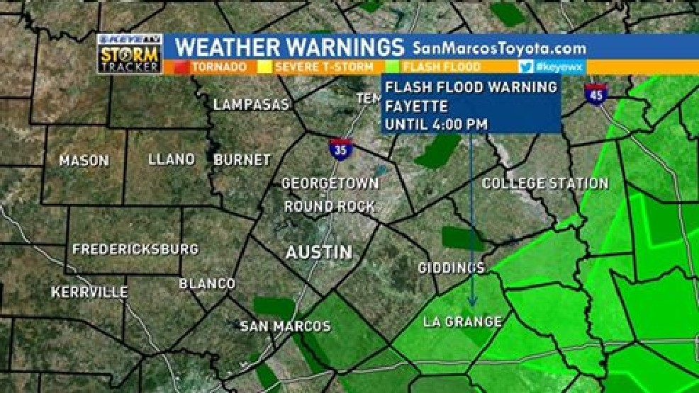 Only ONE Remaining Flash Flood Warning. In Effect For Fayette County Until  4PM. The Weather Service Says That Rain Is Ending Sooner, But The Warning  Will ...