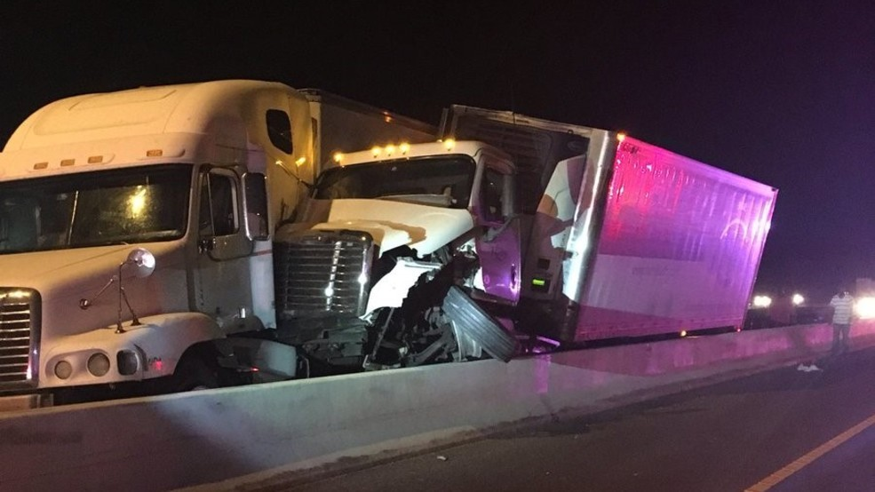 Semi truck crash closes down I-35 southbound in Georgetown