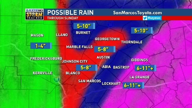 10+ inches fall in parts of Austin as rainfall records are