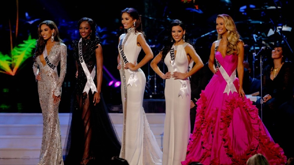 Contestants compete for Miss USA